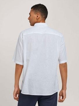 Lockeres Kurzarmhemd mit Leinen - 2 - TOM TAILOR Denim
