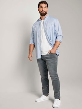 Slim Fit Jeans mit leichter Waschung - 3 - Men Plus