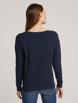 Pullover mit Waffelstruktur - 2 - TOM TAILOR Denim