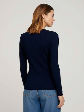 Pullover mit Ripp Struktur - 2 - TOM TAILOR Denim
