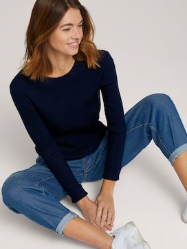 Pullover mit Ripp Struktur - 5 - TOM TAILOR Denim