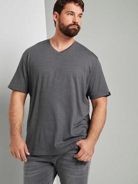 T-Shirt in Melange-Optik - 5 - Men Plus