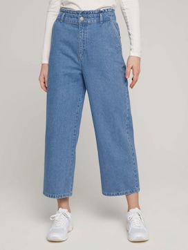 Culotte Jeans mit Paperbag-Taille - 1 - TOM TAILOR Denim