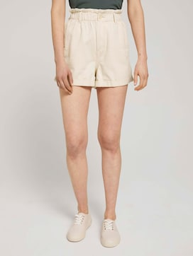 Relaxed paperbag shorts - 1 - TOM TAILOR Denim