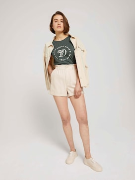 Relaxed paperbag shorts - 3 - TOM TAILOR Denim