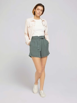 Weiche Relaxed Fit Shorts mit Lyocell   - 3 - TOM TAILOR Denim