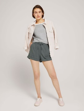 Relaxed-fit shorts with linen - 3 - TOM TAILOR Denim