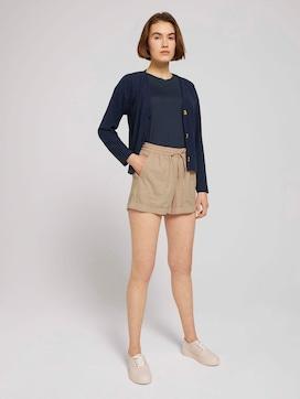 Relaxed Fit Shorts mit Leinen - 3 - TOM TAILOR Denim