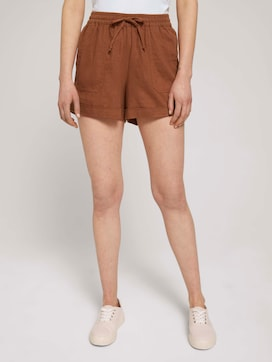 Relaxed Fit Shorts mit Leinen - 1 - TOM TAILOR Denim