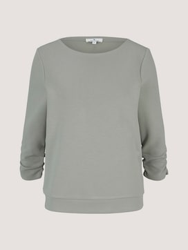 Sweatshirt with gatherings on the sleeves - 7 - TOM TAILOR