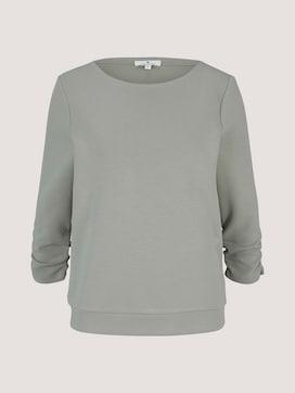 Sweatshirt mit Raffungen am Ärmel - 7 - TOM TAILOR