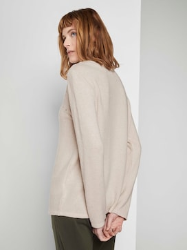 Mottled sweatshirt with embroidery - 2 - TOM TAILOR