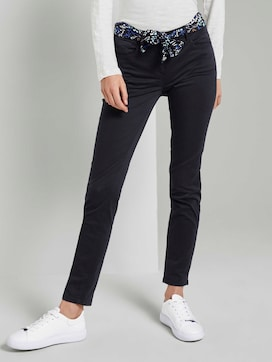 Alexa slim jeans with a tie belt - 1 - TOM TAILOR