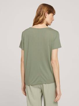 T-shirt with hem details - 2 - TOM TAILOR