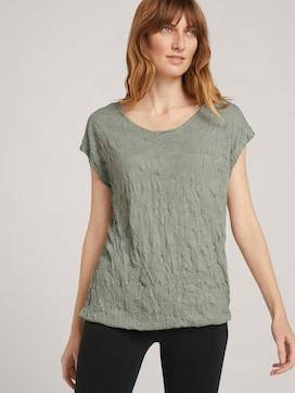 Elastisch T-shirt in plooilook - 5 - TOM TAILOR