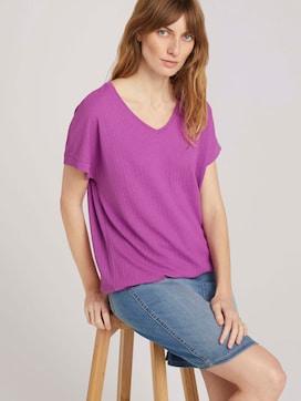 T-shirt met V-hals - 5 - TOM TAILOR