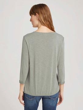 Overhemd met 3/4 mouw en elastische tailleband - 2 - TOM TAILOR