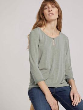 Overhemd met 3/4 mouw en elastische tailleband - 5 - TOM TAILOR