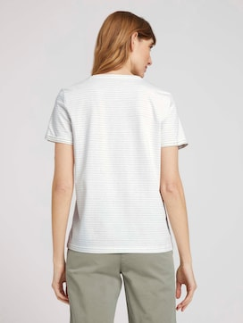 Striped T-shirt with a print - 2 - TOM TAILOR
