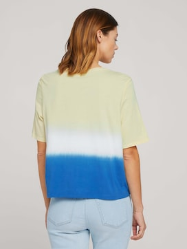 Cropped t-shirt with gradient colour - 2 - TOM TAILOR Denim