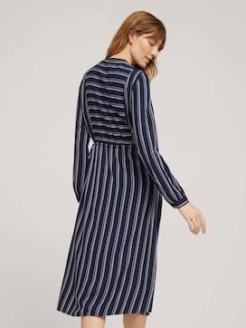 Gestreepte blouse jurk met trekkoord - 2 - TOM TAILOR