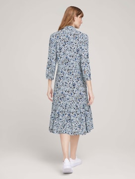 Midi blouse dress with flowers - 2 - TOM TAILOR