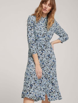 Midi blouse dress with flowers - 5 - TOM TAILOR