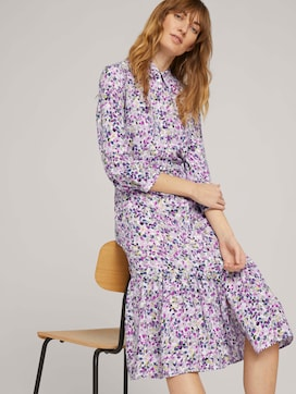 Midi blouse jurk met bloemen - 5 - TOM TAILOR