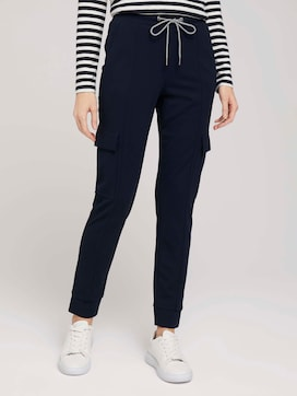 Jersey Cargohose im Loose Fit - 1 - TOM TAILOR