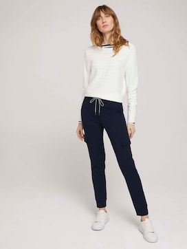 Jersey Cargohose im Loose Fit - 3 - TOM TAILOR