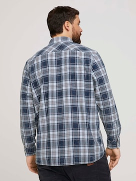 checked shirt with a chest pocket - 2 - Men Plus
