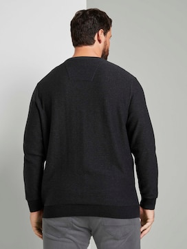 gerippter Pullover - 2 - Men Plus