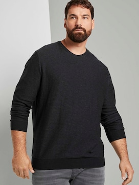 gerippter Pullover - 5 - Men Plus