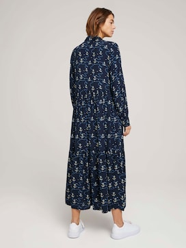 Patterned blouse dress with ruffles - 2 - TOM TAILOR Denim