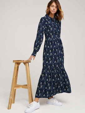 Patterned blouse dress with ruffles - 5 - TOM TAILOR Denim