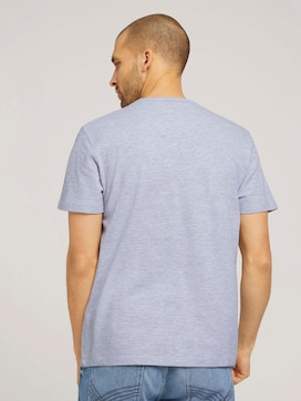 strukturiertes T-Shirt mit Bio-Baumwolle - 2 - TOM TAILOR