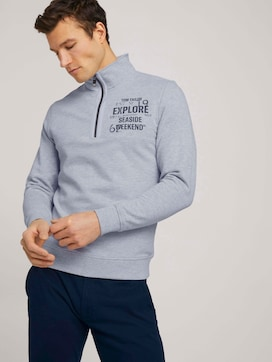 Sweatshirt mit Troyer-Kragen - 5 - TOM TAILOR