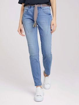 Tapered Relaxed Jeans mit buntem Gürtel - 1 - TOM TAILOR