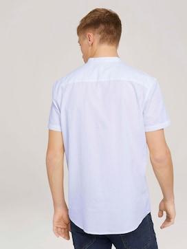 Gemustertes Kurzarmhemd mit Stehkragen - 2 - TOM TAILOR Denim