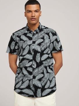 Kurzarmhemd mit Palmenprint - 5 - TOM TAILOR Denim