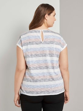 Striped t-shirt with an elastic waistband - 2 - My True Me