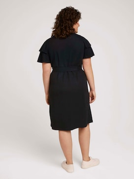 Midi dress with flounce sleeves - 2 - My True Me