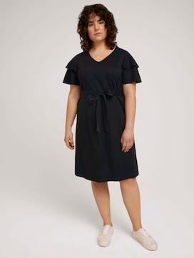 Midi dress with flounce sleeves - 5 - My True Me