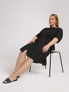 Lockeres Blusenkleid mit Leinen - 5 - My True Me
