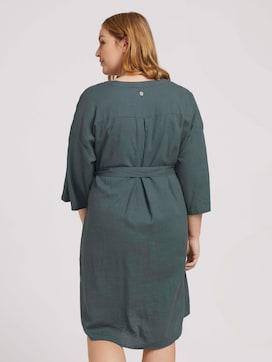 Plus - Lockeres Blusenkleid mit Leinen - 2 - My True Me