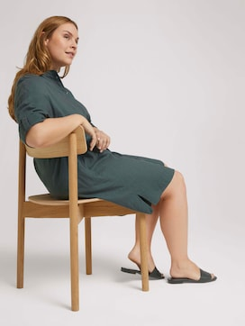 Plus - Lockeres Blusenkleid mit Leinen - 5 - My True Me