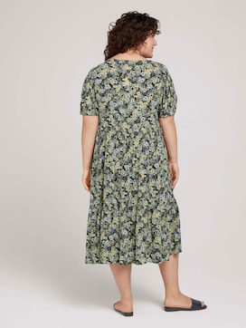 Floral maxi dress with balloon sleeves - 2 - My True Me