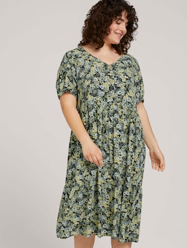 Floral maxi dress with balloon sleeves - 5 - My True Me