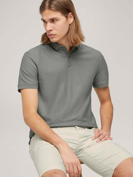 Poloshirt in Melange Optik - 5 - TOM TAILOR Denim