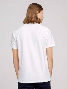 Poloshirt in Melange Optik - 2 - TOM TAILOR Denim